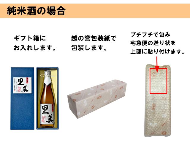 包装姿 純米酒720ml 説明画像