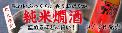 純米燗酒センターバナー発売日入り
