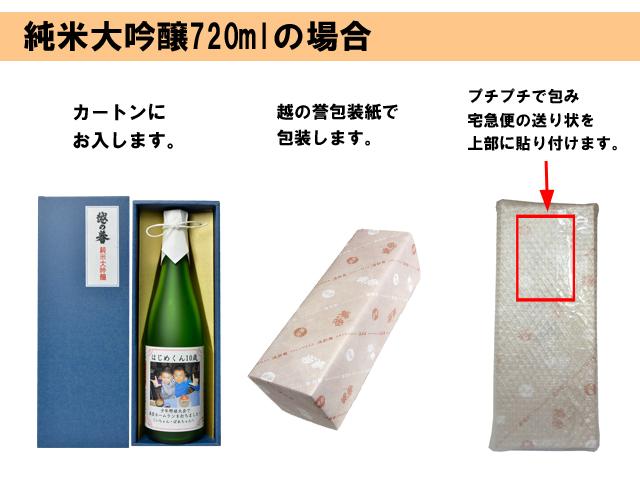 包装姿 写真入り純米大吟醸720 説明画像